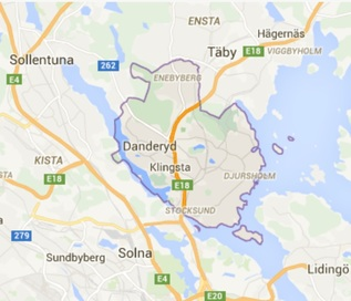 Danderyd map - New in Danderyd