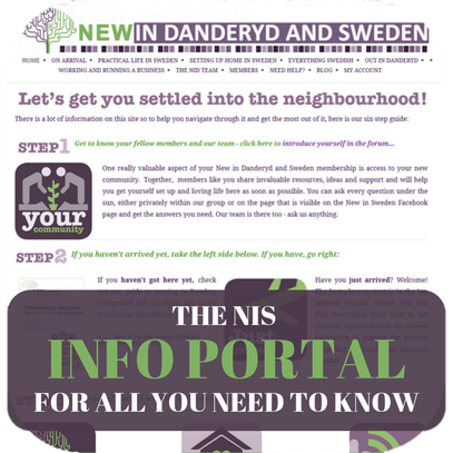 THE NIS INFO PORTAL FOR ALL YOU NEED TO KNOW - New in Sweden
