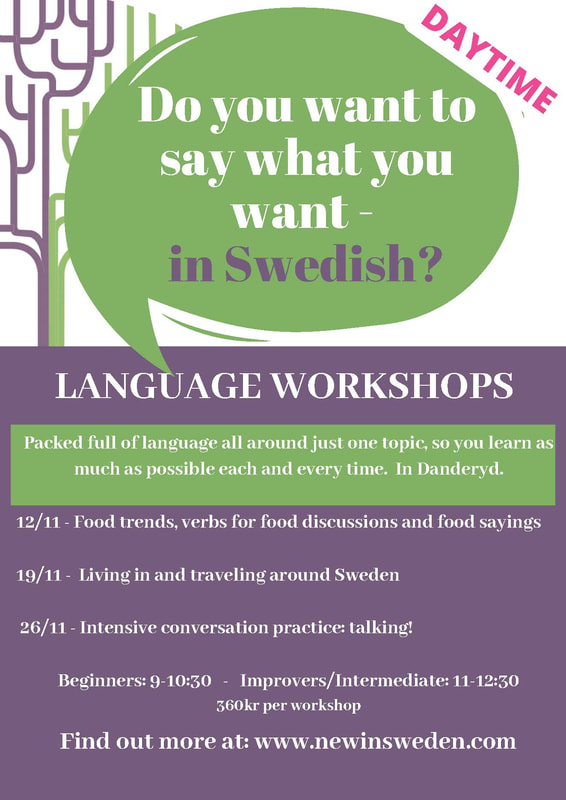 Daytime Swedish language workshops from New in Sweden - Learn Swedish