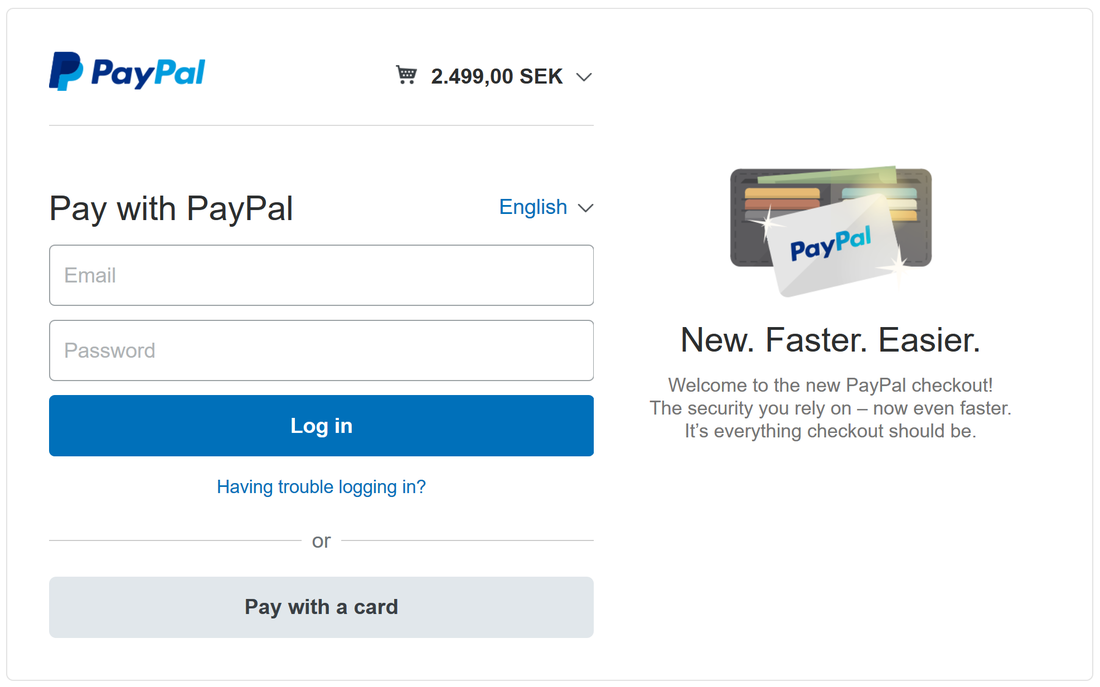 Paying for NID&S with PayPal