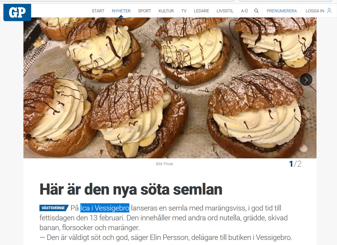 Sweet semlor - New in Sweden